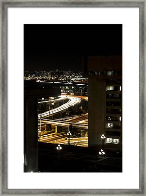 Nighttime Commute  Framed Print by Andrew Pacheco