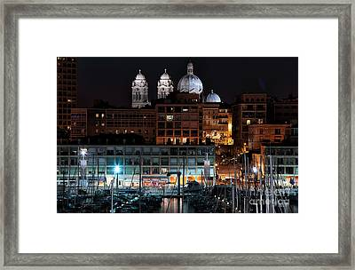 Nighttime In Marseille Framed Print by John Rizzuto