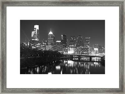 Framed Print featuring the photograph Nighttime In Philadelphia by Alice Gipson