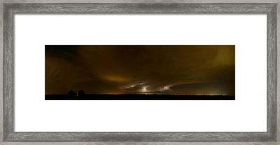 Nighttime Panoramic Framed Print