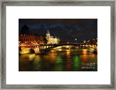 Nighttime Paris Framed Print