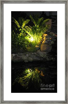Nighttime Reflection Framed Print by Debbie Finley