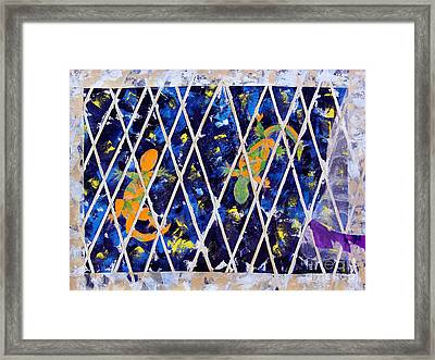 Nighttime View From The Kitchen Window Framed Print by Paula Drysdale Frazell