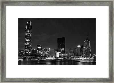night Ho Chi Minh city Framed Print