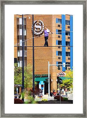 Nik Wallenda Framed Print