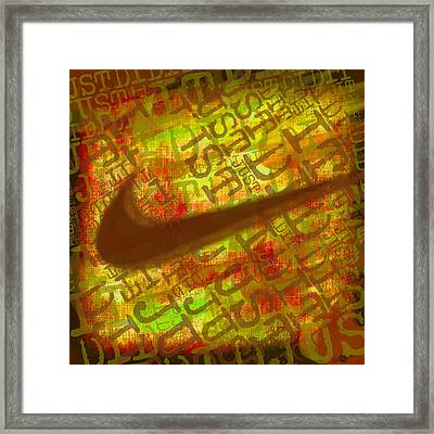 Nike Just Did It Gold Framed Print