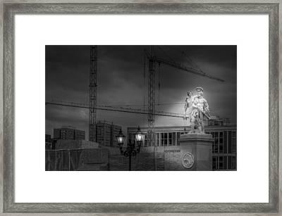 Nike Kroent Den Sieger - Schlossbruecke Berlin Framed Print by Colin Utz