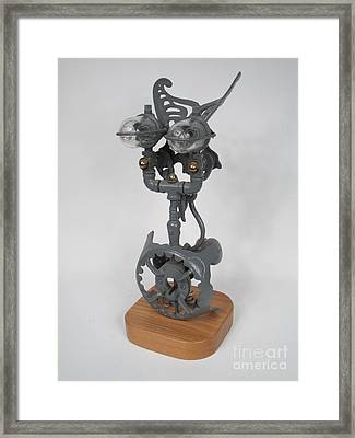 Nike Of Samothrace   Private Parts  #7 Framed Print by Bill Czappa