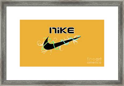 Nike Framed Print by Roy Lavi
