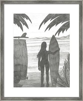 Niki Framed Print by Ray Ratzlaff
