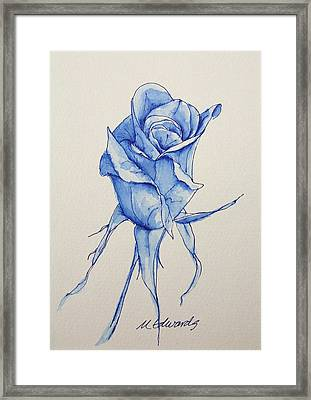Niki's Rose Framed Print by Marna Edwards Flavell