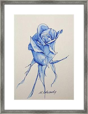 Niki's Rose Framed Print