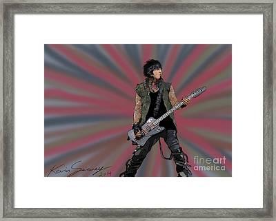 Nikki Sixx Framed Print