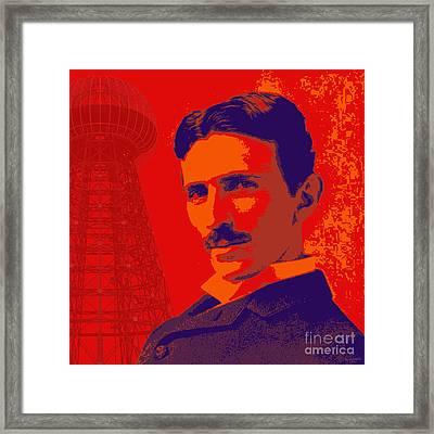Nikola Tesla #1 Framed Print by Jean luc Comperat