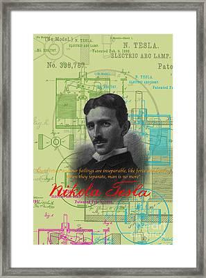 Nikola Tesla #3 Framed Print by Jean luc Comperat