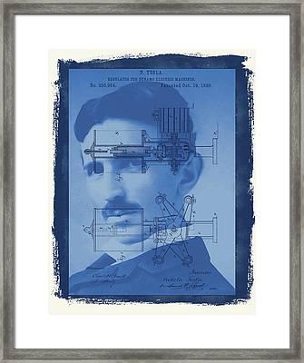 Nikola Tesla Framed Print by Dan Sproul