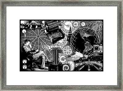 Tesla Framed Print by Matthew Ridgway
