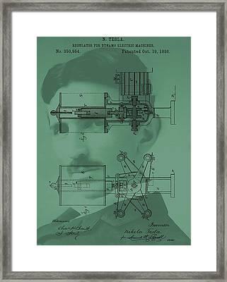 Nikola Tesla Patent Framed Print by Dan Sproul