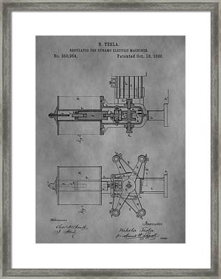 Nikola Tesla's Patent Framed Print by Dan Sproul