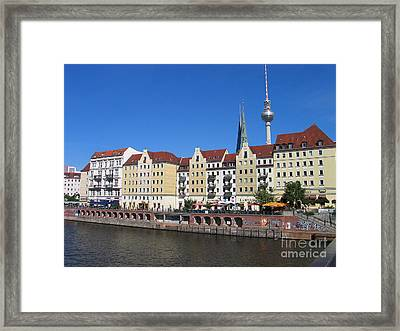 Framed Print featuring the photograph Nikolaiviertel And Alexanderturm by Art Photography