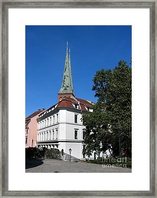 Nikolaiviertel And Nikolai Church Framed Print by Art Photography