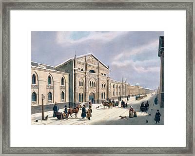 Nikolyskaya Street In Moscow Framed Print