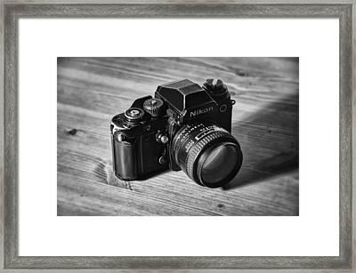 Nikon F3 Framed Print by Taylan Apukovska