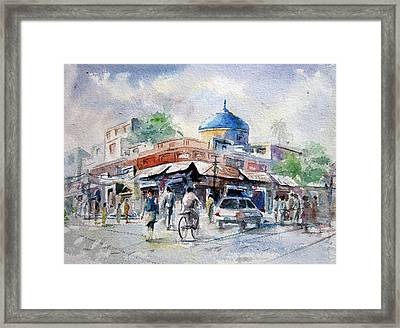 Nila Gumbad Framed Print by M Kazmi