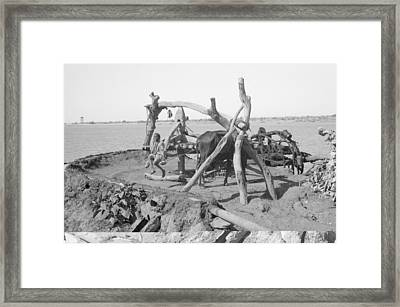 Nile Irrigation Pump, Sudan, 1936 Framed Print by Science Photo Library