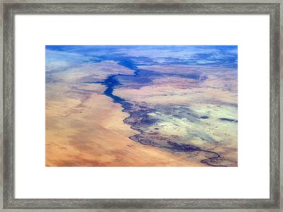 Nile River From The Iss Framed Print by Science Source