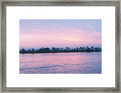Framed Print featuring the photograph Nile Sunset by Cassandra Buckley