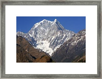 Nilgiri South, The Himalayas, Nepal Framed Print