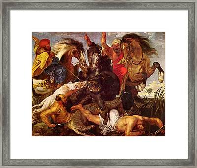 Nilpferdjagd Framed Print by Peter Paul Rubens