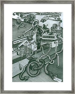 Nimble Bot Framed Print by Richie Montgomery