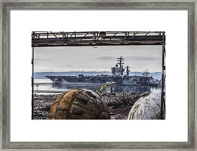 Nimitz - Port Of Everett Framed Print