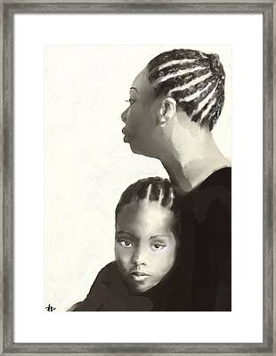 Nina And Lisa Simone Framed Print