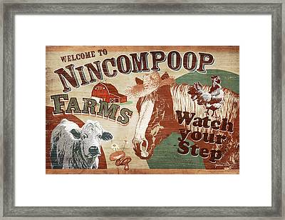 Nincompoop Farms Framed Print