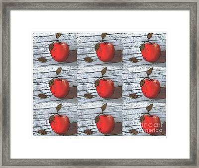 Nine Apples Framed Print by Barbara Griffin
