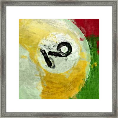 Nine Ball Billiards Abstract Framed Print by David G Paul