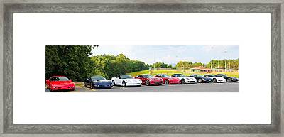 Nine Corvettes Is A Team Framed Print