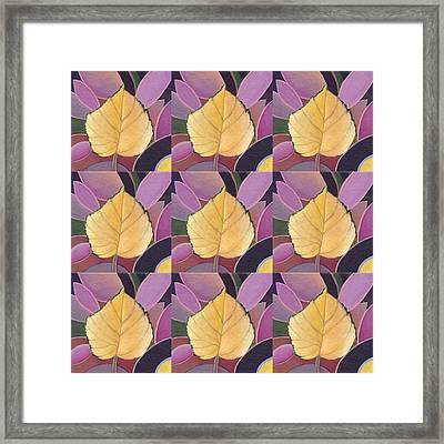 Nine Golden Leaves Framed Print by Helena Tiainen