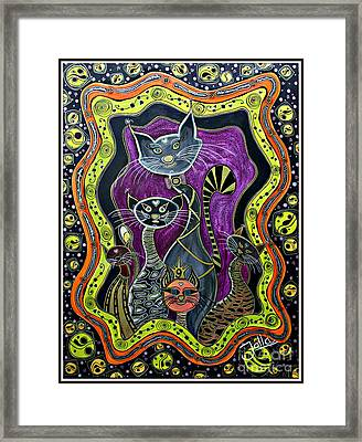 Nine Lives     Framed Print by Jolanta Anna Karolska