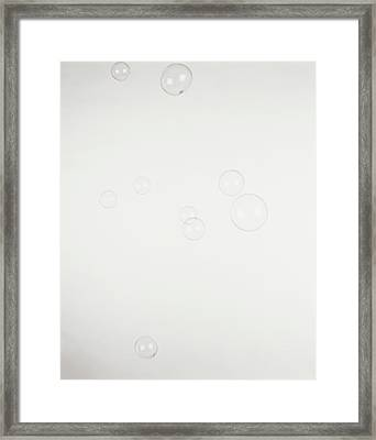 Nine Soap Bubbles Floating In The Air Framed Print by Dorling Kindersley/uig