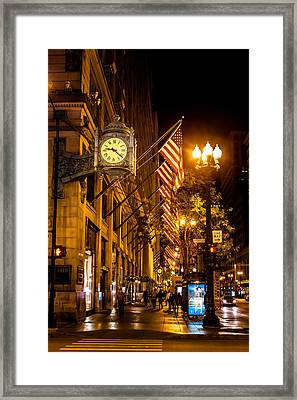 Nine Twenty Two In Chicago And All Is Well Framed Print
