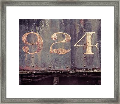 Nine Two Four Framed Print
