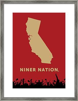 Niner Nation Framed Print by Nancy Ingersoll