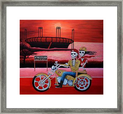 Framed Print featuring the painting Ninerrider by Evangelina Portillo