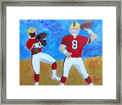 Niners Classic Duo Framed Print by Artistic Indian Nurse