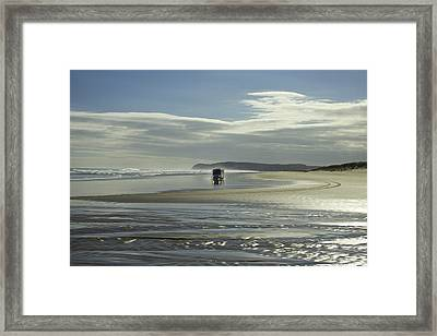 Ninety Mile Beach New Zealand Framed Print by Venetia Featherstone-Witty