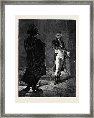Ninety Three The Ancestor At The Noise Of The Opening Framed Print by English School